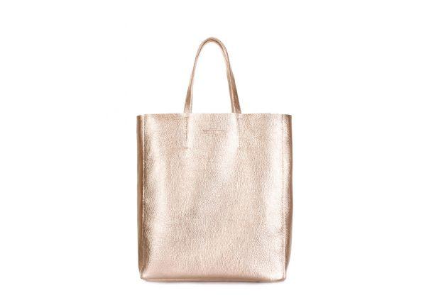 1c65cbaca227 Кожаная женская сумка золото POOLPARTY City купить в интернет ...
