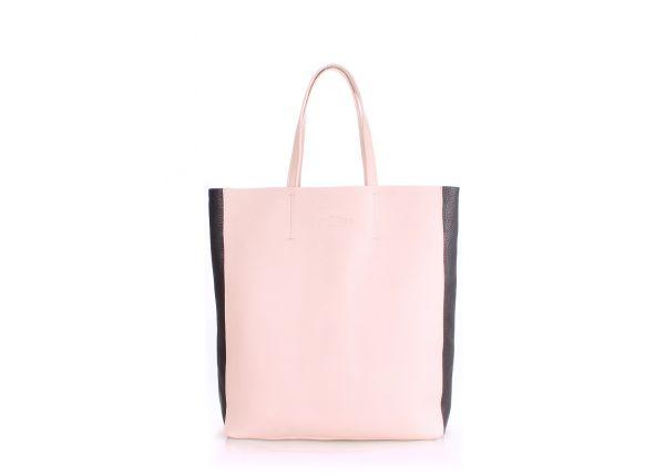 590f8609461f Кожаная женская бежевая сумка POOLPARTY City купить в интернет ...