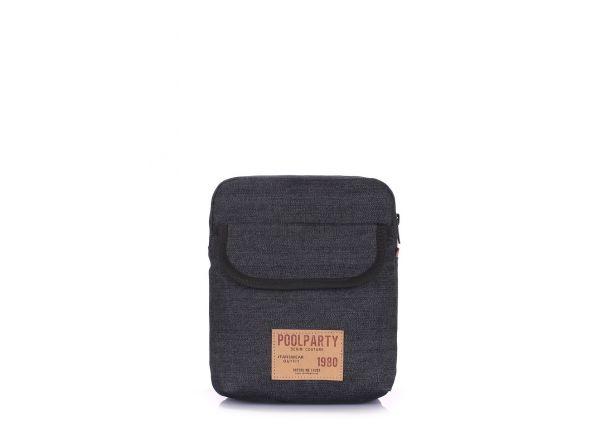 d1be451b150c Мужская сумка на плечо черная POOLPARTY купить в интернет-магазине ...