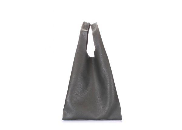 6a1efeb24218 Кожаная женская сумка зеленая POOLPARTY Tote купить в интернет ...