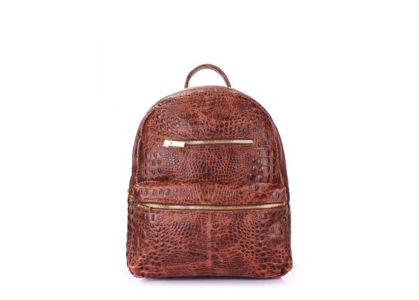 2fe00b538eb7 Рюкзак женский кожаный коричневый POOLPARTY Mini купить в интернет ...