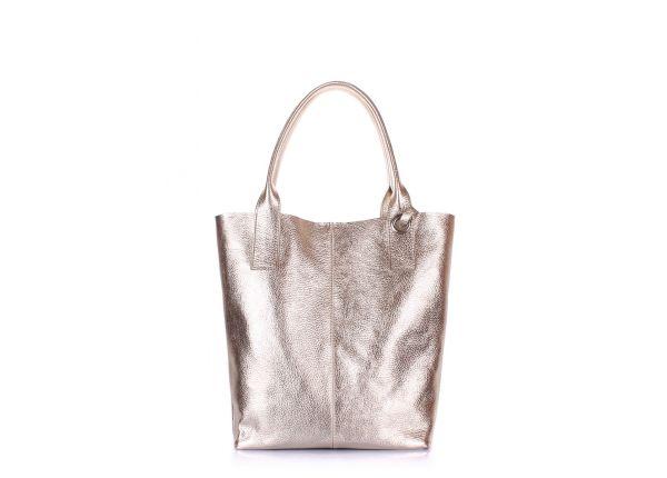 45cfffa4ea6f Золотая кожаная сумка POOLPARTY Podium купить в интернет-магазине по ...