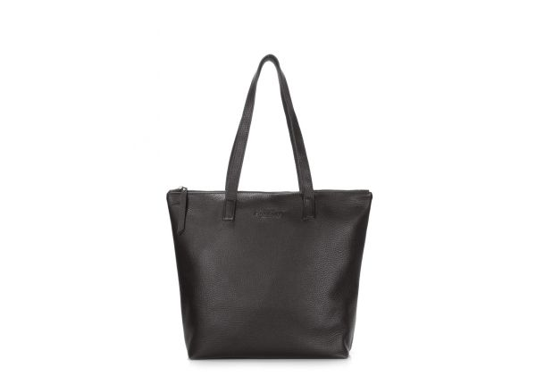e58b57550690 Кожаная сумка женская черная POOLPARTY Secret купить в интернет ...