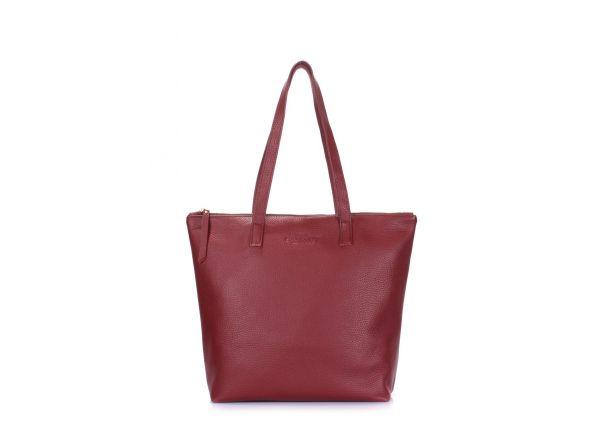 0654dbaf20e0 Кожаная сумка женская бордо POOLPARTY Secret купить в интернет ...
